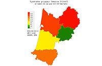 Arrivée de l'épidémie de grippe en Aquitaine